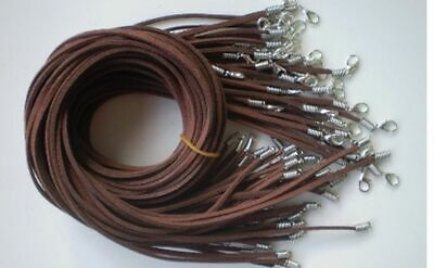 Wholesale 10pcs Deep coffee Suede Leather String 20 inches (50cm) Necklace Cords