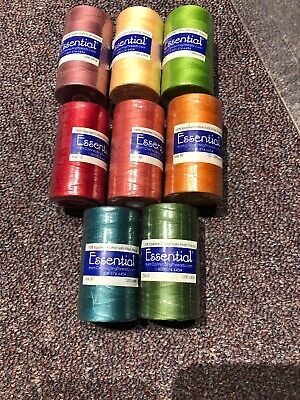 Lot Of 8 Spools Of Essential Connecting Thread