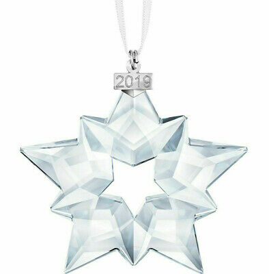 Genuine Swarovski Editions 2019 Christmas Crystal Ornament Large Snowflake Star
