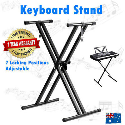 Keyboard Stand Double Braced X Type Music Piano Folding Holder Adjustable Height