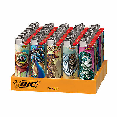 BIC Special Edition Tattoos Series Lighters, 50-Count Tray