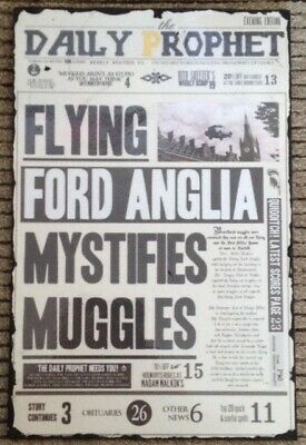 Homemade Harry Potter wood plaque - Flying car