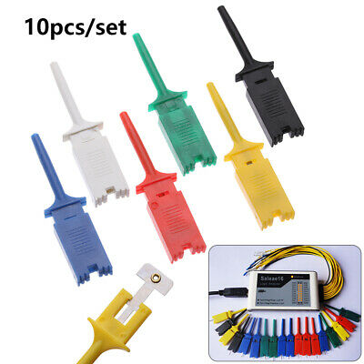 10PCS Test Clamp Wire Hook Test Clip for Logic Analyzer Electronic Components