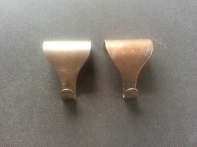 Pair 2 Vintage Edwardian Early c20th Picture Hooks Nice Patina