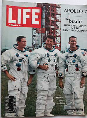 Life Atlantic Magazine: October 28, 1968 (Apollo 7 Cover) + BEATLES INSIDE