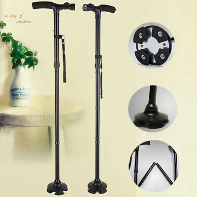 Walking Stick With Light Heavy Duty Folding Mobility Cane Adjustable Collapsible