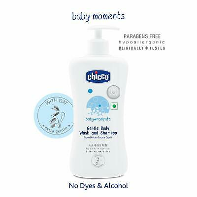 Chicco Baby Moments Gentle Body Wash and Shampoo (500ml) ORIGINAL FREE SHIP