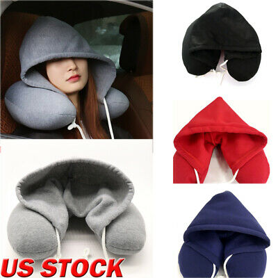 US Memory Foam U Shaped Travel Pillow Neck Support Head Rest Car Soft Cushion