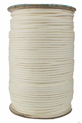 White Jewelry Making Thread Cotton Wax Corduroy 2 mm Cord 1 Roll Bracelet Making