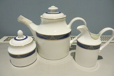 Royal Doulton Regalia Teapot Jug And Sugar Bowl With Lid Mint