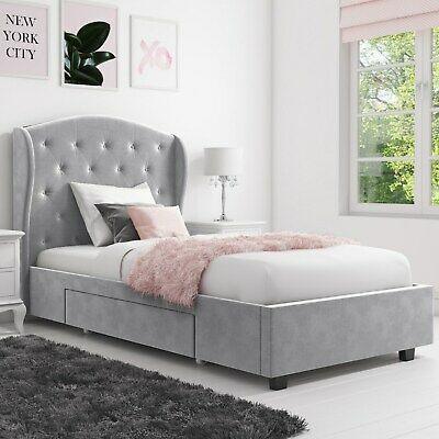 Phenomenal Safina Wing Back Double Ottoman Bed With Stud Detailing In Spiritservingveterans Wood Chair Design Ideas Spiritservingveteransorg