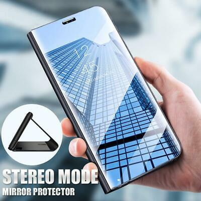 For Xiaomi Redmi Note 8 7 6 Pro 5A 4X Clear Mirror Leather Flip Stand Case Cover