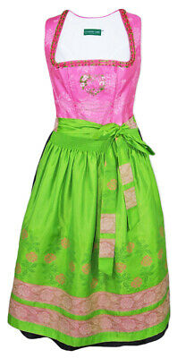 Country Line Ladies Dirndl Milena Pink Green 70 cm Traditional% Sale % Size 40