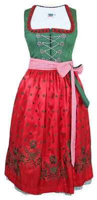Country Line Ladies Dirndl Lucy Green Red 70 cm Traditional Dress % Sale % Size