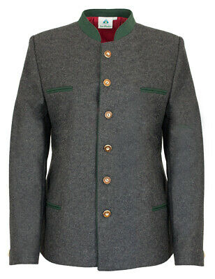 High Quality Lodenjanker for Boys Traditional Costume Jacket Cardigan Grey Green