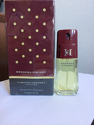 Carolina Herrera For Men 30Ml Edt Spray Vintage Profumo Uomo Raro Pour Homme '90