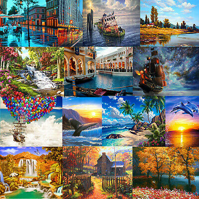 DIY Ship Scenery Paint By Number Kit Digital Oil Painting Home Wall Art Decor