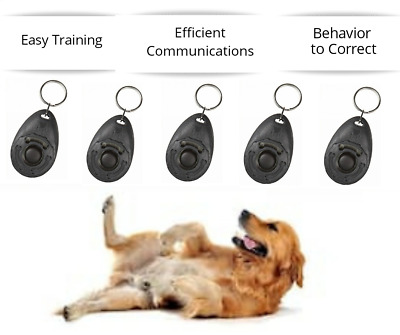 Dog Clicker Pet Trainer Teaching Training Tool For Dogs Clicking Key Ring 1 Pcs