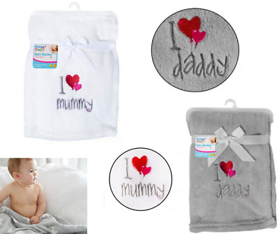 Personalised Baby Childrens Blanket Fleece Embroidered Soft Fluffy Gift