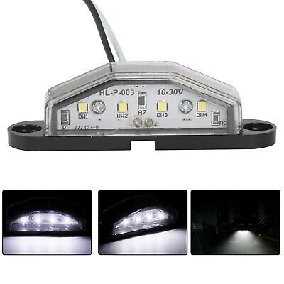2x 4 LED LICENSE NUMBER PLATE LIGHT TAIL REAR LAMP CAR TRUCK TRAILER LORRY VAN n