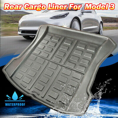 For Tesla Model 3 Rear Boot Liner Tray Cargo Trunk FLoor Mat Carpet All Weather