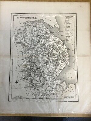 Vintage Map Of Lincolnshire