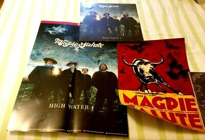 The Magpie Salute High Water Blue Marble Limited Vinyl Hand Signed Poster J2
