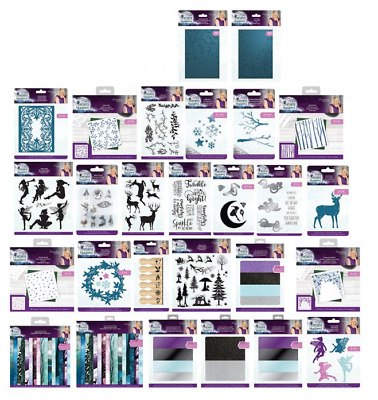 ENCHANTED CHRISTMAS - Crafters Companion Sara Collection Dies,Stamps,Folders etc