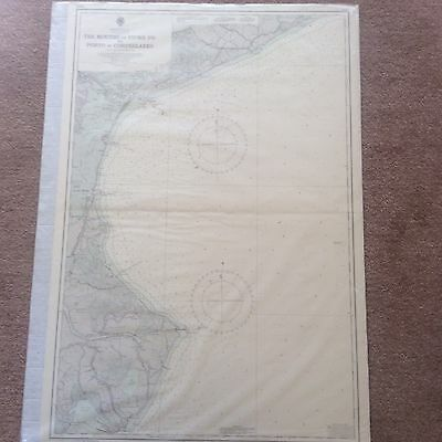 Vintage Map Italian Govt Provisional Chart Gulf of Venice Mediterranean Sea 1956