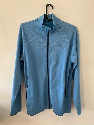 LULULEMON MENS BLUE MARLE ZIP JACKET size XL