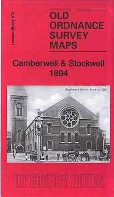 Old Ordnance Survey Map Camberwell & Stockwell 1894
