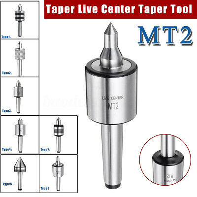 MT2 MT3 Morse Lathe Live Centre Center Taper Triple Bearing Milling CNC
