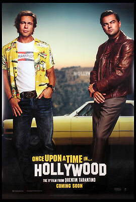Once Upon A Time In Hollywood Tarantino Pitt Dicaprio 2019 Ds 1-Sheet Mint
