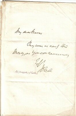 Henry Phillpotts - mid 19th century Bishop of Exeter -original autograph letter