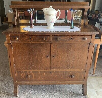 Antique Buffet With Mirror >> 1800 1899 Sideboards Buffets Furniture Antiques Picclick