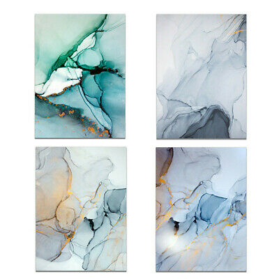 Abstract Marbling Texture Canvas Wall Art Oil Painting Modern Home Room Decor