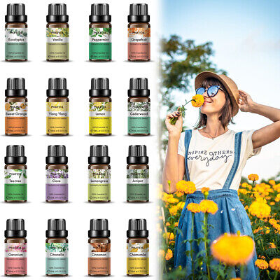 Natural 10ml Essential Oils 100% Pure Aromatherapy Essential Fragrance Aroma SPD