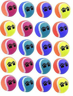 16 x AQS Coloured Tennis Balls For Pets Puppy Play Dog Toys Bouncing Ball