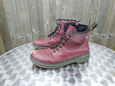 Dr Marten Air Wair Delaney Leather Zip Boots - UK 3 Girls / Womens - Oxblood Red