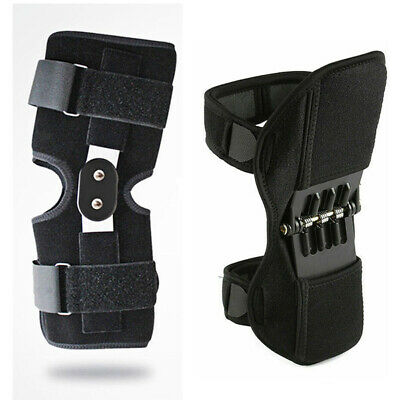 Patella Booster Spring Double-Hinged Knee Brace Support Mountaineering Squat Gym
