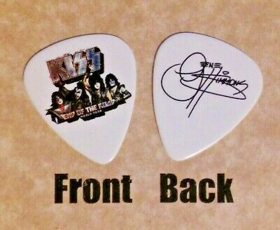 KISS band logo END OF THE ROAD tour gene simmons signature guitar pick Style (W)
