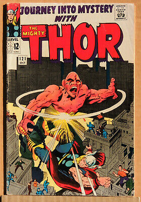 JOURNEY INTO MYSTERY #121, THOR, SILVER AGE MARVEL COMICS LOT, Vintage 1965, VG