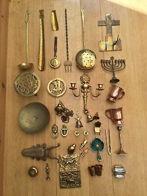 Vintage Bass ware Job Lot Various Antique Items 8kg Old Copper Collectables
