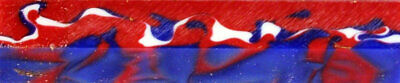 "Old Glory Red White Blue Acrylic Acetate Pen Blank 3/4"" x 5"" Blanks (1 pc)"