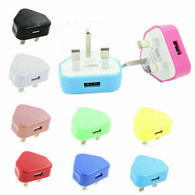 UK Mains Wall 3 Pin Plug Adaptor Charger Power USB Ports for Phones Tablets
