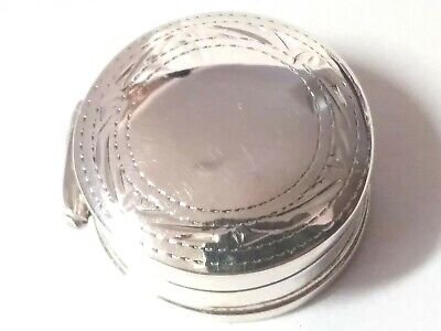 Fantastic 925 Sterling Silver Pill-Snuff box! Great Shine and Hinged! Hallmarked