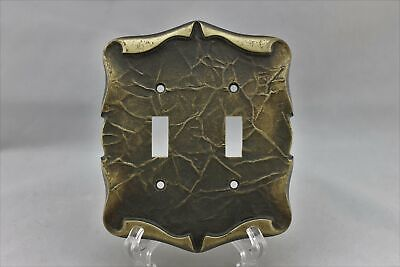"LP-1751AI Amerock 4 7/8"" Bronze Carriage House Metal Vintage Dual Switch Plate"