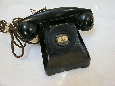 Vintage Black Telephone, No Rotary Dial, Bell System By Western Electric F1