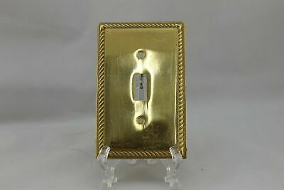 "LP-1857AI 3 1/4"" Gold Rope Trim Brass Vintage Switch Plate"