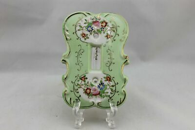 "LP-1804AI 3 3/4"" Lime Green Ornate Floral Ceramic Ornate Switch Plate"